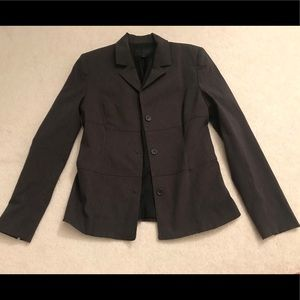 Worn Once! Express Blazer Women Gray Stretch 5/6